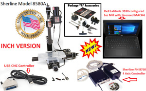 SHERLINE 8580A Mill CNC System Package quot;Aquot; CNC Controller Laptop INCH