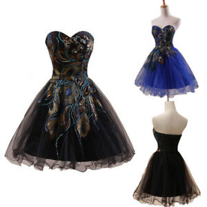 US Black Short Homecoming Prom Dress Formal Mini Ball Gown Cocktail Party Dress
