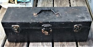 Antique Union Steel Fishing Tackle Box One Tray Full of Vintage Tackle