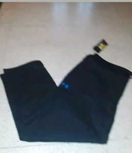 NWT Under Armour Top Flight Warm Up Fitness Pants Loose 1260689 001 BLACK SZ 2XL