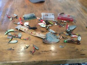 HUGE LOT OF FISHING LURES SPINNERS BOX CRANK BAIT FOR TACKLE BOX VERY NICE