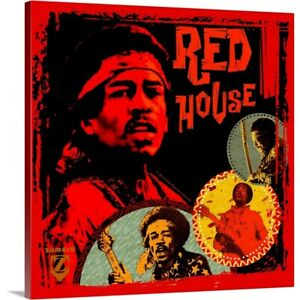 Premium Thick-Wrap Canvas Wall Art entitled Jimi Hendrix Red House