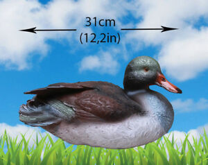 Large Outdoor Garden Statue Duck Yard Sculpture Bird Realistic Figure Pond Decor