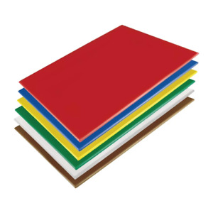 Hygiplas Low Density Commercial Kitchen Chopping Boards 600x450x10mm (Set of 6)