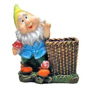 Decorative Plant Pots Statue Flower Garden Sculpture Large Gnome Outdoor Stand