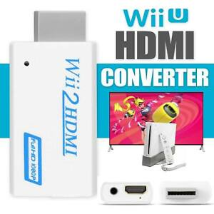 Wii To HDMI Converter Full HD 1080P Video HDMI 3.5mm AV Multi Out Plug Adapter