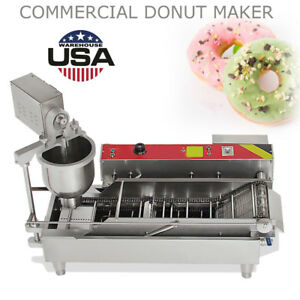 Commercial Automatic Donut Maker Making MachineWide Oil Tank3 Sets Free Mold