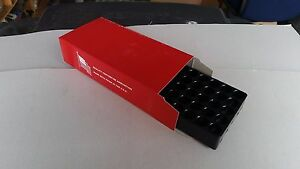 **CLOSEOUT**RED CARDBOARD AMMO BOX WPLASTIC TRAY FOR 44MAG45 LONG COLT QTY25