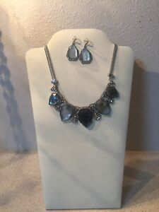 Chloe and Isabel Northern Lights Statement Necklace & Drop Earring Set NWot $178