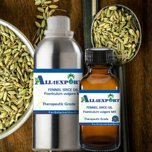PURE FENNEL SPICE OIL Foeniculum vulgare Mill NATURAL AYURVEDA HERBAL