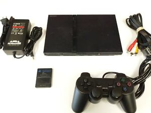 Sony PlayStation 2 PS2 Slim Console System Black VG Tested Fast Free Shipping