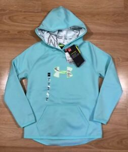 Girls UNDER ARMOUR STORM Hoodie YSM Loose Green And Camo NEW!! $49.99