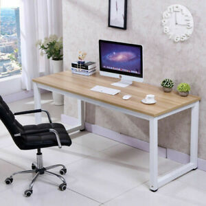 Wood Computer Desk PC Laptop Table Workstation Study Home Office BlackBrown