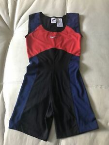 Nike Women's Body Suit Dri Fit Running Shorts Navy Blue Black Red Size Small 4-6