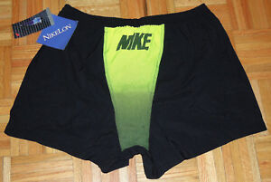 NWT VTG 80s 90s NIKE Nylon NIKELON Running Athletic Shorts Black SPELL OUT Sz XL