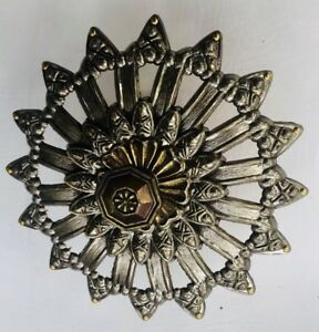 "6"" Antique Hardware Nickel SunFlower Country French Cabinet Knob Drawer Pull"