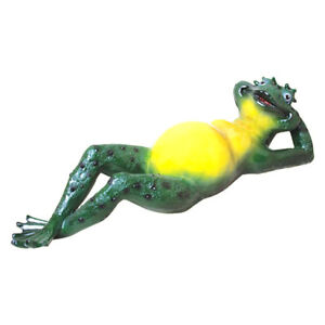 Frog Garden Sculpture Outdoor Large Statue Feng Shui Decor Toad Relax Figurine