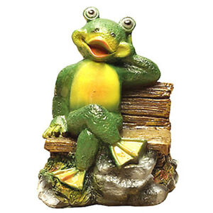 Frog Statue Garden Ornament Yard Decorations Sculpture Outdoor Lawn Decor Toad  $24.18