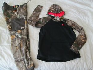 NEW Womens UNDER ARMOUR 2pc Outfit REALTREE STORM CAMO Hoodie+Pants SM FREE SHIP $139.99