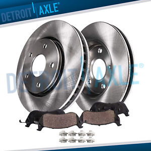 Front Disc Brake Rotors for 2004 2005 2006 2007 2008 Chevy Malibu 4-Cylinder