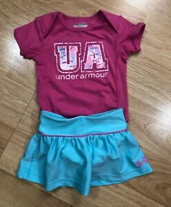 Baby UNDER ARMOUR Outfit Size 3 6 Months Pink And Green $16.99