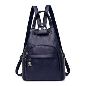 Casual Double shoulder Bag For Women Simple Fashion Anti-Theft Leather Backpack