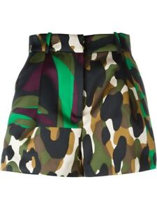 New Versace Military Camouflage Printed Shorts 38