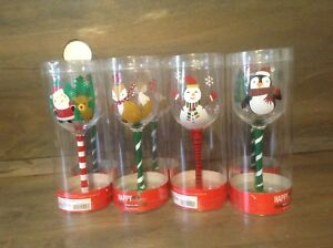 HOLIDAY CHRISTMAS Wine Glass New GREAT GIFTS ASSORTED DESIGNS