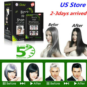10pcSet Instant Hair Dye Dexe Black Hair Shampoo 5 Minuter Hair Coloring Fast
