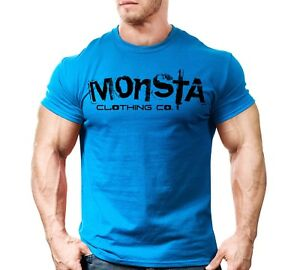 New Men's Monsta Clothing Fitness Gym T shirt Sig 31 Black $12.00