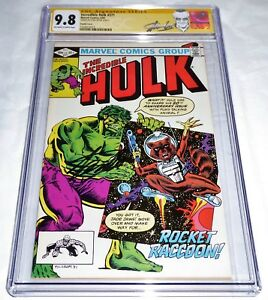 Incredible Hulk #271 CGC SS Signature DOUBLE COVER 1st Rocket Raccoon 9.8 LEE