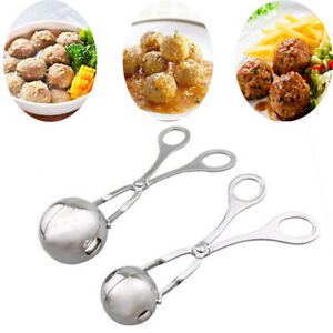 2Pack Stainless Steel Stuffed Meatball Clip Maker Mold Cooking Kitchen Tool