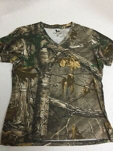 Field amp; Stream Camouflage Women#x27;s MD Short Sleeve V Neck T Shirt