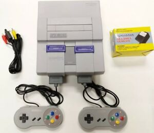 Super Nintendo SNES Console System With 2 New Controllers Cleaned Tested