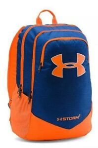 UA Under Armour Storm1 Scrimmage Youth Backpack Orange Blue NWT