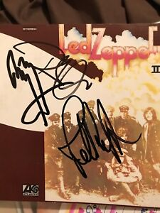 Led Zeppelin 2 CD Cover Signed By Page And Plant And jones! In Person!