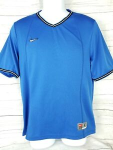 Nike Dry Fit Boys Youth Shirt Size L 14-16 Blue Short Sleeve Athletic Sportswear