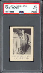 1951 Laval Dairy QSHL #37 Punch Imlach PSA 9 Hall of Fame Rookie Card Pop 1