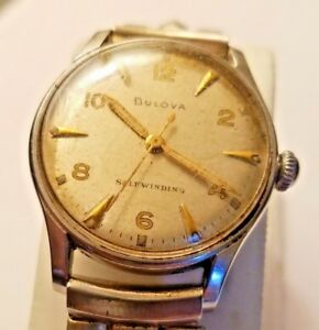 Vintage Mens BULOVA Selfwinding Automatic Watch w Bracelet Band