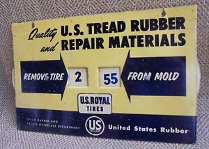 Vintage US Royal Rubber Tire Mold Sign Gas & Oil Display