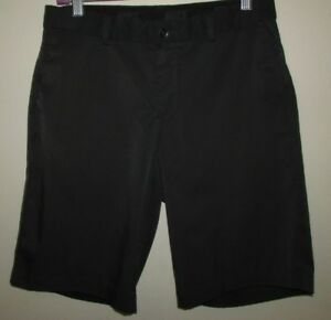 Nike Shorts Size 30 Mens Black Flat Front Casual Comfort Fit Dry Cool boys Golf