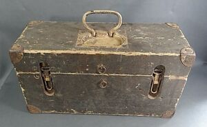 WWII German Military Africa Corps Ammunition Ammo Crate Wooden Box Chest Locker