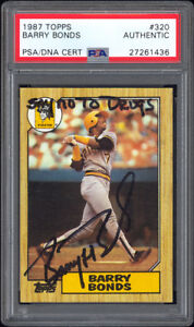 1987 Topps #320 Barry Bonds RC PSADNA Autographed