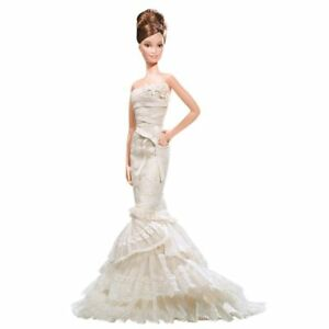 Vera Wang Bride Barbie The Romanticist Brown Hair NRFB MIB Gold Label