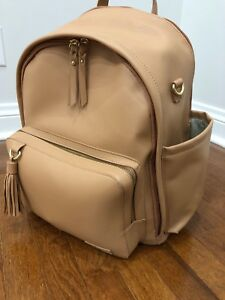 Skip Hop Greenwich Tasseled Backpack Diaper Bag - Caramel