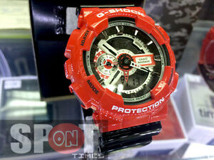 Casio G-Shock Red Theme Vivid Design Men's Watch GA-110RD-4A