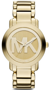 New Michael Kors Gold tone Stainless Steel Bracelet Watch Mk3206