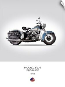 Wall Decal entitled HD Model FLH Duo Glide 1958