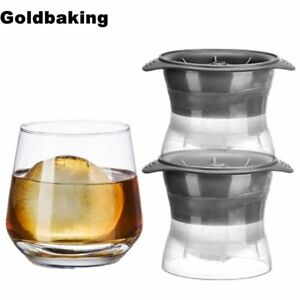 2 Pieces Sphere Ice Molds Perfect Ice Ball Maker  for Slow-melting Beverage