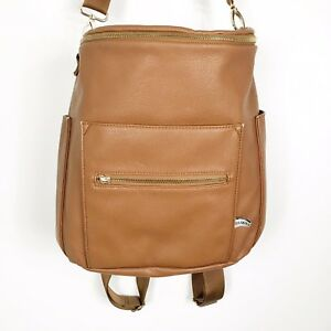 Fawn Design Original Diaper Bag Backpack Brown Tan Cognac Leather